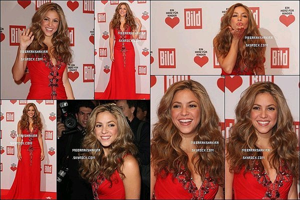 15 décembre 2007 : Shakira au Heart for Children dans la capitale allemande, Berlin