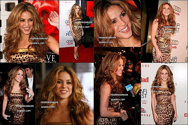 11 novembre 2007 : Shakira était au Audi closing night gala dans une belle robe léopard