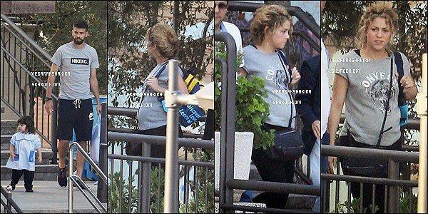 23 septembre 2014 : Shakira sortant de la clinique de chirurgie esthétique Casellas à Barcelone