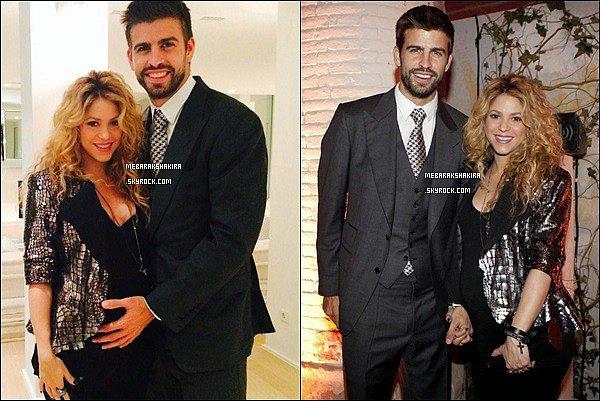 22 Octobre 2014 : Shakira & Gérard étaient au 100ème anniversaire de Puig qui est le partenaire de S. avec qui elle réalise ses parfums :S By Shakira Eau Florale, Aquamarine Elixir, Wild Elixir, Rock...
