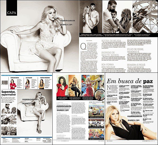 Shakira fait la couverture du magazine brésilien Donna, elle est vraiment plus-que-parfaite
