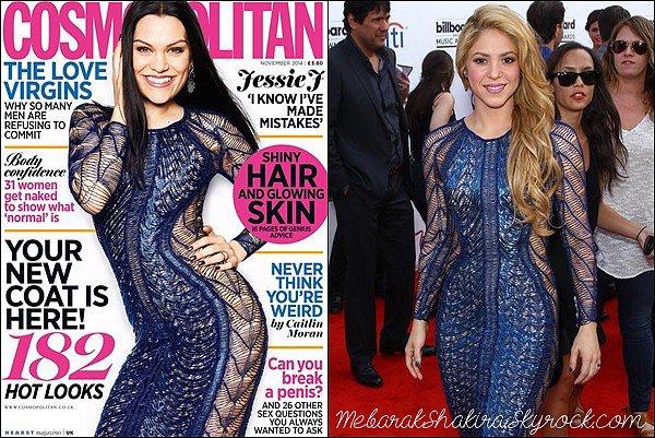 Jessie J fait la couverture de Novembre du magazine Cosmopolitan... Un air de déjà vu ? Notre colombienne préféré l'a portait la 18 mai dernier aux Billboard 2014. A qui va-t-elle le mieux ?