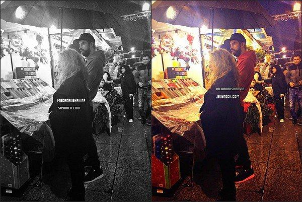 29 novembre 2014 : Shakira et Gerard faisaient un tour au marché de Barcelone