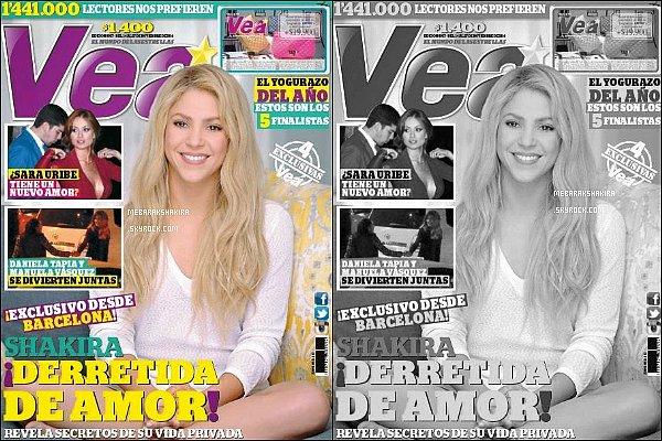 Shakira fait la couverture du magazine VEA en Colombie, elle est trop mignonne ♡