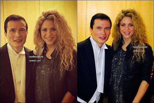 1er novembre 2014 : Shakira était avec le directeur Stanley Dodds à un concert à Berlin