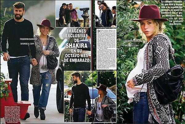 23 novembre 2014 : Shakira & Gerard main dans la main, se promenant à Barcelone. Sest trop mignonne♥