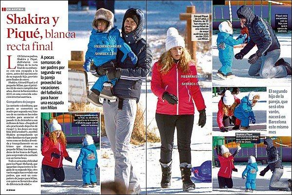 Début Janvier 2015, Shakira & toute la petite famille sont dans la revue Semana