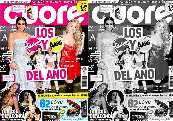 Fin décembre 2014, Shakira est en couverture du magazine espagnole Cuore