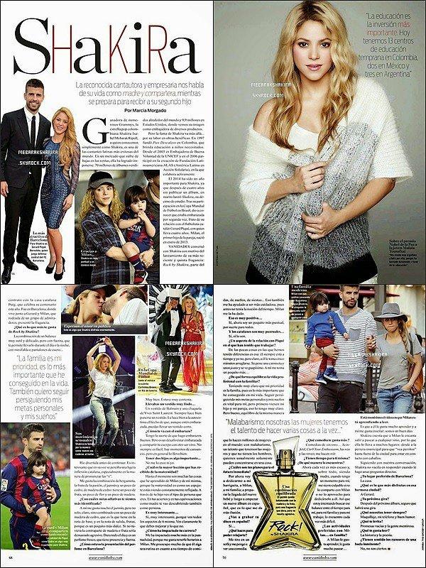 Shakira est dans la revue Vanidades, elle est vraiment sublime ! ♡