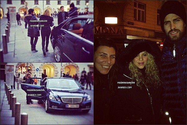 21 décembre 2014 : Shakira & Gerard étaient à Vienne en Autriche