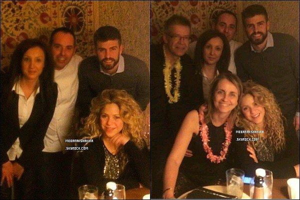 31 décembre 2014 : Shakira & Gerard ont fait le réveillon du jour de l'an à Cerdana