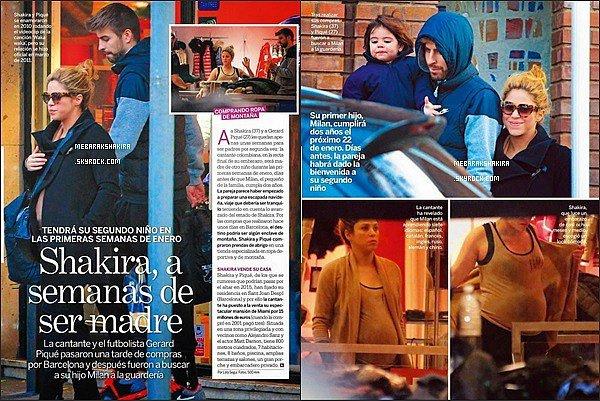 Décembre 2014, La famille Piqué est dans la revue espagnole Lecturas de cette semaine