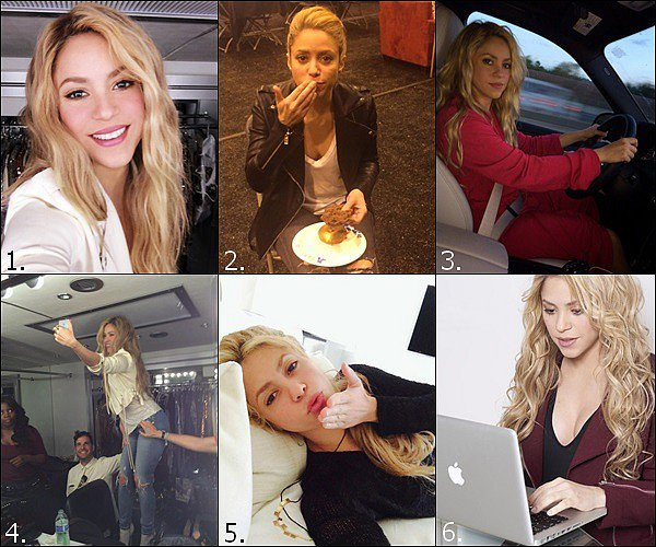 Quel Selfie/Photo perso de la belle Shakira réalisé au cours de l'année 2014 préférez-vous ?