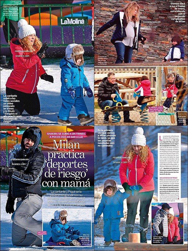 Début Janvier 2015, La jolie famille Piqué-Mebarak est dans la revue Lecturas