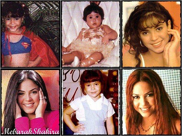 Re-découvrez d'anciennes photos de Mlle Shakira plus jeune. Adorable n'est-ce pas ? :)