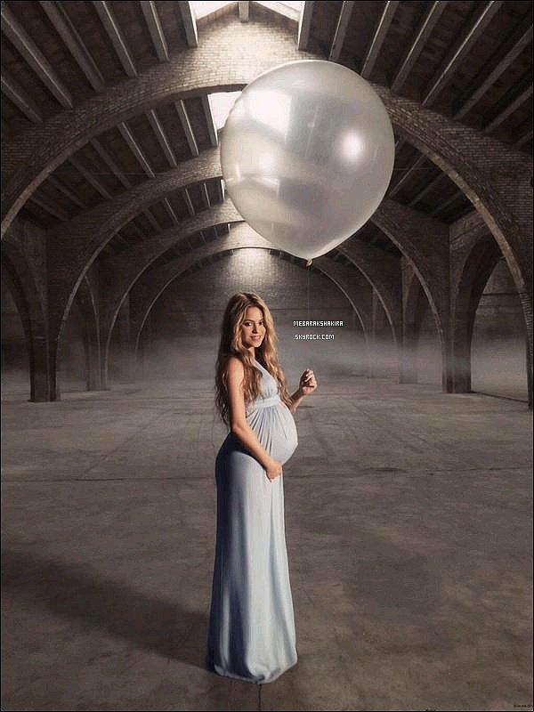 Magnifique photo de Shakira enceinte datant de fin novembresur le tournagee de Mi Verdad