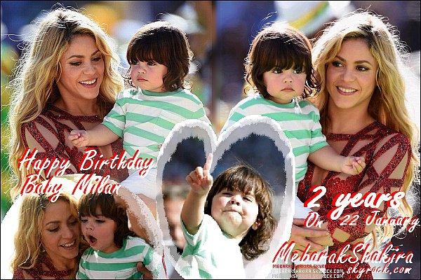 22 Janvier 2015 : Milan prend 2 ans ! Un très bon anniversaire à lui ♥