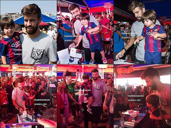 18 Juillet 2015 : Gerard accompagné de Milan est allé voter pour le nouveau président du FC Barcelona