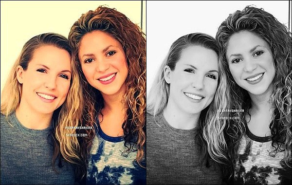 29 avril 2015 : Shakira a pris une photo avec la coach Anna Kaiser à Barcelone, elles sont mignonnes :)