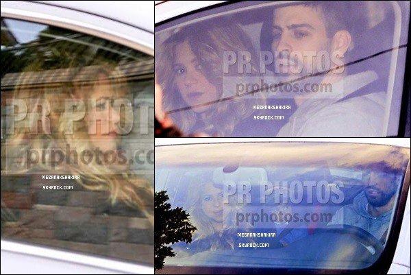 29 Janvier 2015 : Shakira & Gerard ont été vu dans leur voiture dans Barcelone