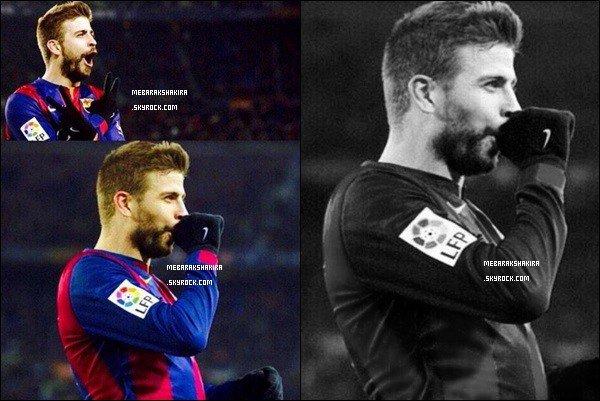 11 février 2015 :  Gerard a dédié un but marqué à sa belle Shakira & à son fils Sasha
