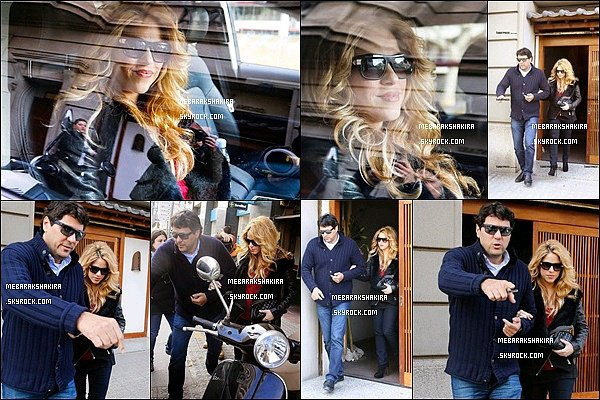 12 février 2015 : Shakira & son frère Tonino sortant d'un restaurant japonais à Barcelone