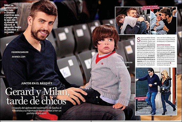 Février 2015, Gerard & son fils Milan sont dans la revue espagnole Lecturas