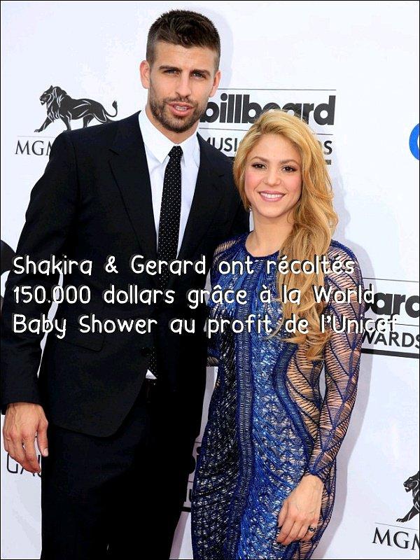 Shakira & gerard récoltent 150.000 dollars avec la World Baby Shower  au profit de l'Unicef