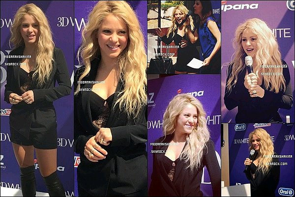 9 mai 2015 : Shakira était présente à une conférence presse àBarcelonepour Oral-B dont elle est l'égérie Elle était ravissante comme d'habitude ! J'adore sa veste noir avec son haut en dentelle + et puis ses cuissardes Louboutin sont super !
