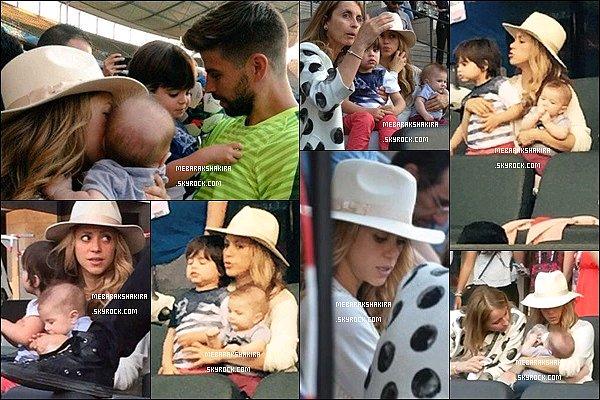 5 Juin 2015 : Shakira, Milan & Sasha arrivant à Berlin pour assisterà la finale de la ligue des champions + S. ainsi que ses deux adorables fils et sa belle-mère ont assistésà l'entrainement du FC Barcelona dans la capitale allemande