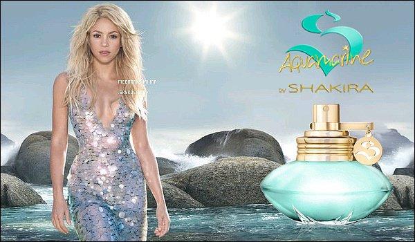 """●●(Re)-découvrez le parfum S by Shakira Aquamarine, sorti en 2013. Il s'agit du 3ème parfum dela ligne S, laquelle comprend le S originale de Shakira sorti en 2010 et S by Shakira Eau Florale sorti en 2011.""""Avec cette nouvelle fragrance, je voulais exprimer quelque chose de pur, élémentaire et sensuelle. Pour moi, l'océan représente toutes ces choses. En un mot, il est une source de véritable inspiration."""" - Shakira Mebarak"""