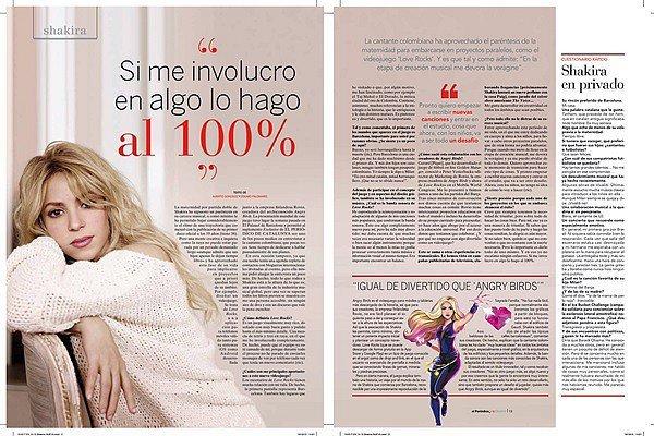 Octobre 2015, La belle Shakira est en couverture du magazine Elle au Kazakhstan Shakira est vraiment magnifique ! J'aime beaucoup cette photo, son beau visage est bien mis en valeur et elle est naturelle