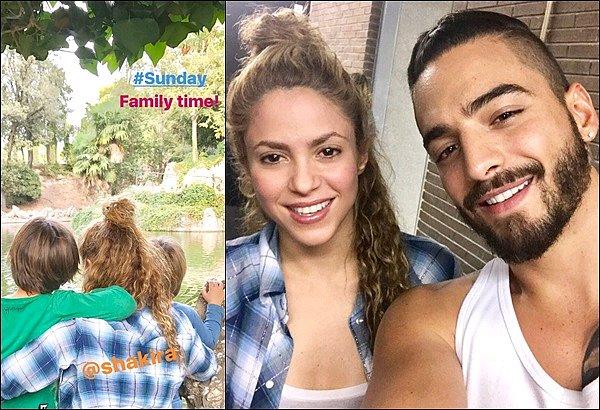 17 septembre 2017 : Shakira a posté une photo en compagnie de Malumaqui était de passage à Barcelone + Gerard a pris en photo sa compagne et ses deux adorables enfants, photo qu'il a d'ailleurs posté ensuite dans sa Story Instagram.