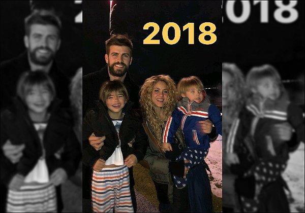 """31 décembre 2017 : Shakira a posté une vidéo sur les réseaux sociaux pour nous souhaiter ses meilleurs voeux """"J'espère que tous vos souhaits se réaliseront et que l'année 2018 vous apportera l'amour et la paix dans vos vies ! Shak"""""""