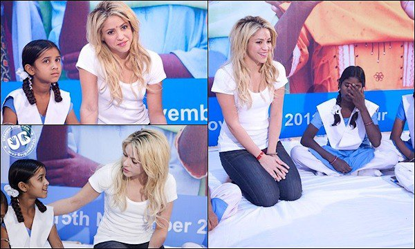 15 novembre 2011 : Shakira était au SIERT (State Institue of Educational Research and Training) en Inde Shakira était encore une fois superbe. S est toujours très engagée dans la cause de l'éducation des enfants dans le monde