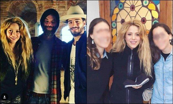"""2 avril 2018 : Shakira a posté une nouvelle photos sur les réseaux sociaux, """"regardant le soleil"""" Shakira est superbe avec sa belle crinière blonde. Voici d'autres photos (en dessous) prises dans la même journée."""