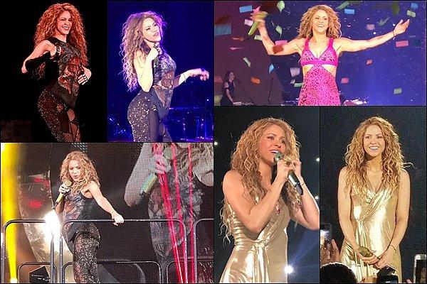 31 août 2018 : Shakira a continué sa tournée en donnant un concert à Anaheim en Californie Shakira semblait s'être rétabli avec ces quelques jours de repos, la belle a donc pu continuer sa tournée :)