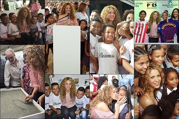 2 novembre 2018 : Shakira s'est rendu à Cartegena en Colombie pour l'inauguration de deux nouvelles écoles « Investir dans l'éducation et offrir des chances égales à nos garçons et à nos filles est le moyen de continuer à ouvrir la voie à la paix. Construire une école est un moyen de changer le monde. »