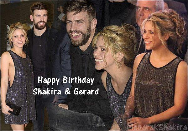 ●● En ce 2 février 2019, Shakira et Gerard prennent un an de plus, Joyeux anniversaire à eux♥