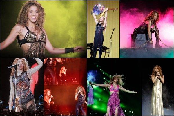 3 novembre 2018 : Shakira a donné le dernier concert de l'El Dorado World Tour à Bogota en Colombie  Shakira était très touchée de donner le dernier concert, la belle a fini en beauté en terminant par son pays natal