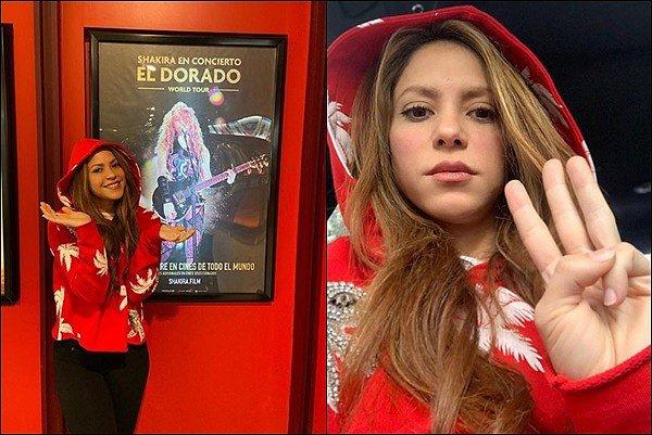 11 & 12 Novembre 2019 : Shakira a posté de nouvelles photos quelques jours avant la sortie de son film Elle est adorable en rouge, notre joli chaperon semble très excitée à l'approche de la sortie du film de son concert EL DORADO