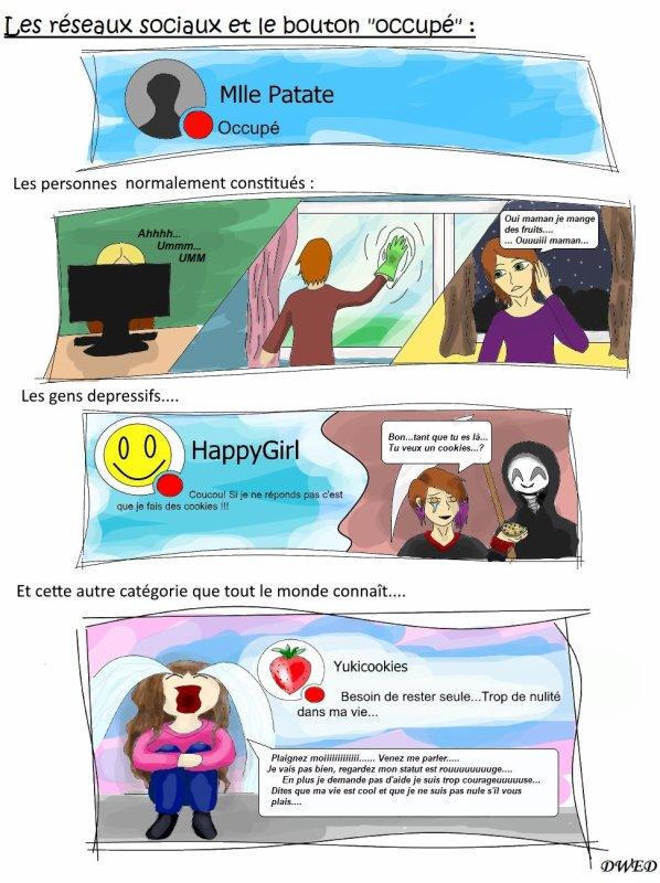 """Les réseaux sociaux et le bouton """"occupé"""""""