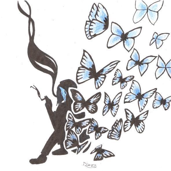 Chloé le papillon bleu