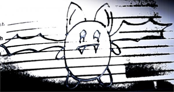 Une Chauve-souris qui volait dans un agenda