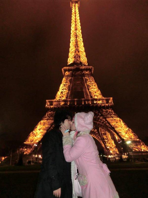 Mon ange en france pour la première fois, Paris , janvier.