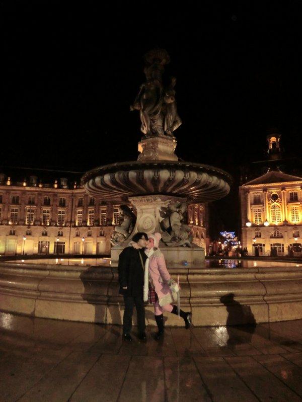Mon ange chez moi et sortie avec les amis, Bordeaux, janvier .