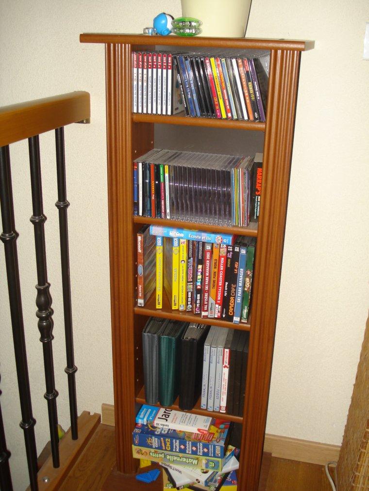 meuble range cd dvd ventes diverses occasion. Black Bedroom Furniture Sets. Home Design Ideas