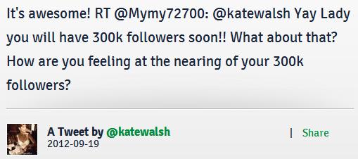 OMG ca faisait longtemps mais ca yest c'est reparti de plus belle ♥ un RT de Kate...