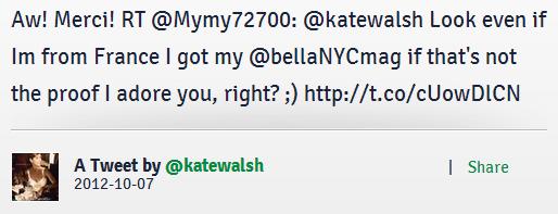 Yay un RT de Kate en Français en plus ♥