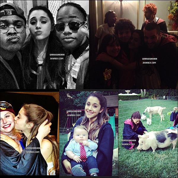 ..  26/06/13 Ariana fêtant son anniv' et celui de sa co-star Jennette, sur le tournage de Sam&Cat.